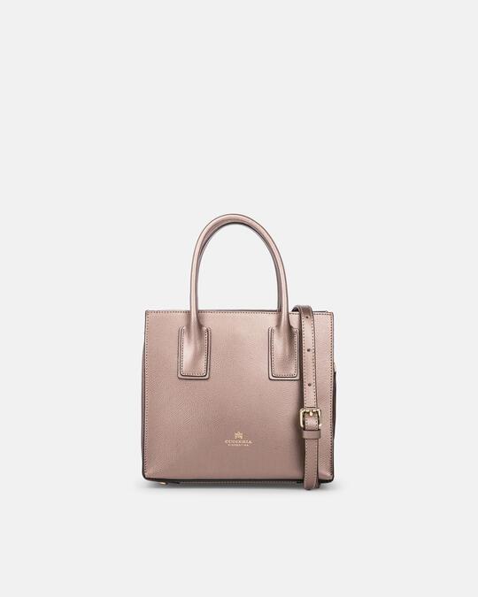 Mini bag in printed calf leather BRONZO Cuoieria Fiorentina