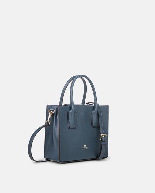 Mini bag in printed calf leather PETROLIO Cuoieria Fiorentina