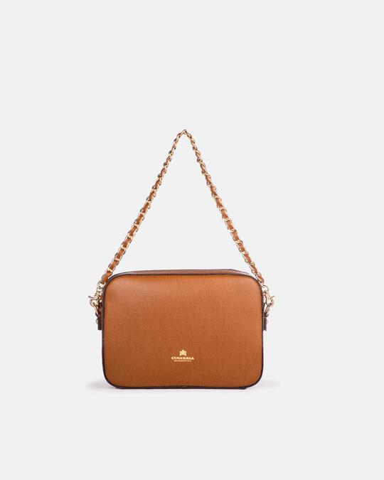 Bella clutch bag con tracolla in pelle e metallo LION Cuoieria Fiorentina