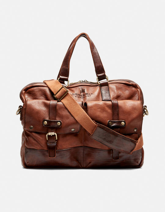 Millennial briefcase in natural leather BRUCIATO Cuoieria Fiorentina