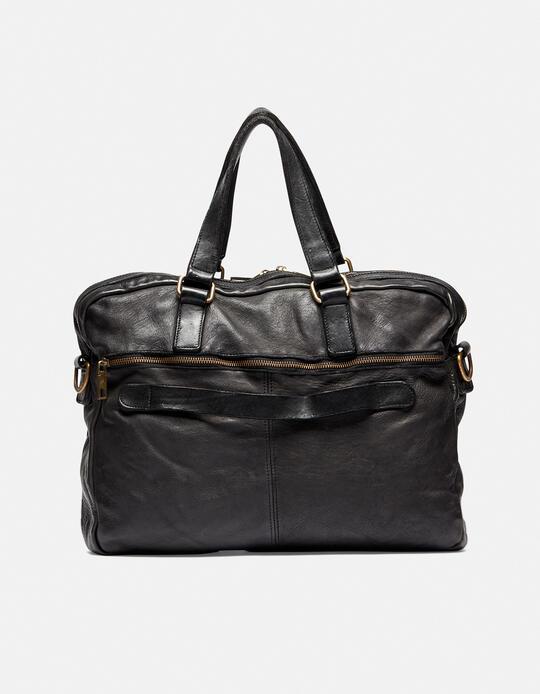 Millennial briefcase in natural leather NERO Cuoieria Fiorentina