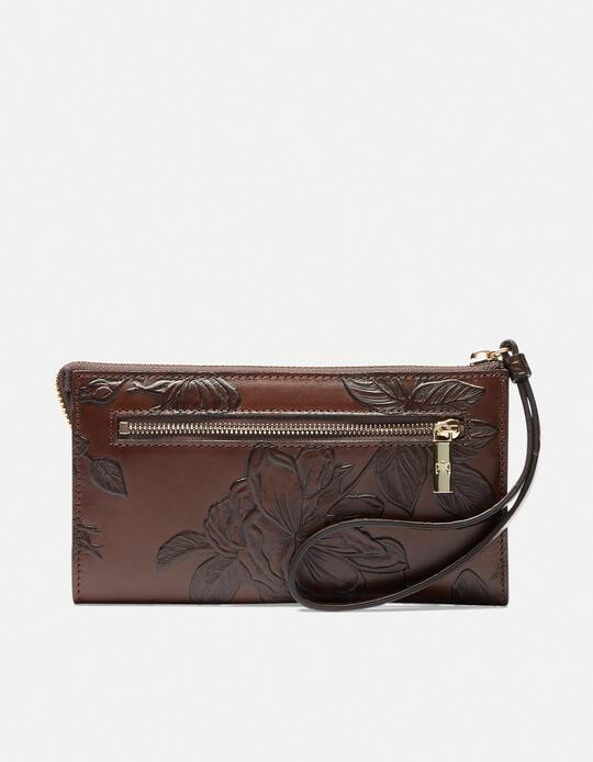Mimì wallet pochette Mimì MOGANO Cuoieria Fiorentina