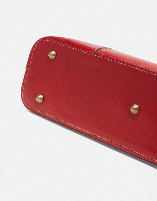 Warm and Colour large leather shopping bag ROSSOBICOLORE Cuoieria Fiorentina