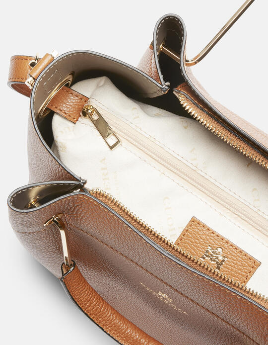 Hand bag in hammered calf leather LION Cuoieria Fiorentina