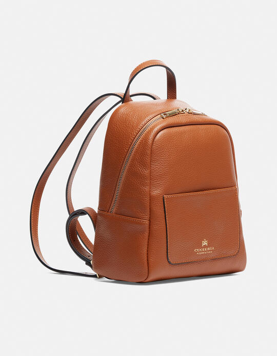Small backpack in hammered calf leather LION Cuoieria Fiorentina