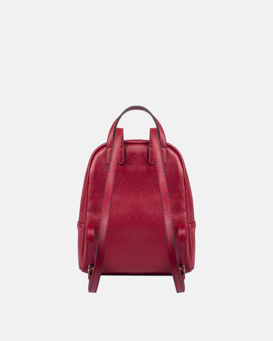 Small backpack in hammered calf leather ROSSO Cuoieria Fiorentina