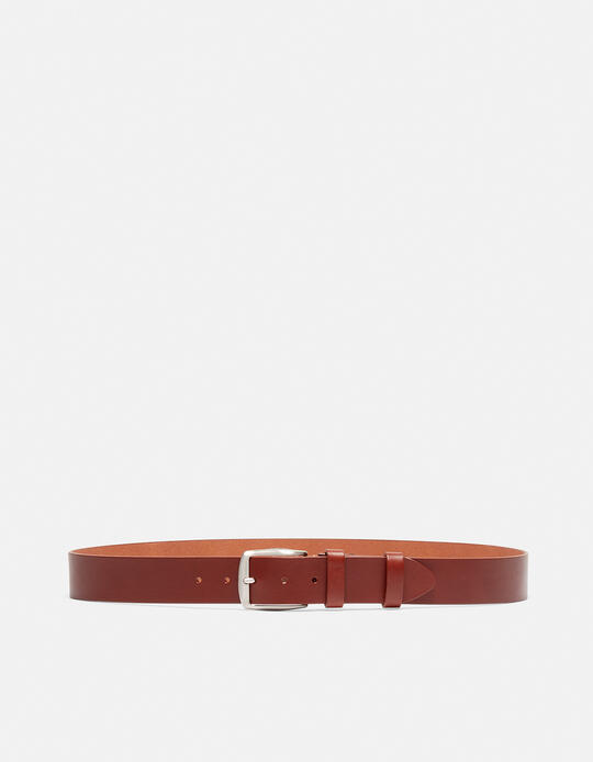 CLASSIC LEATHER BELT WITHOUT SEAMS HEIGHT 4,0 CM MARRONE Cuoieria Fiorentina