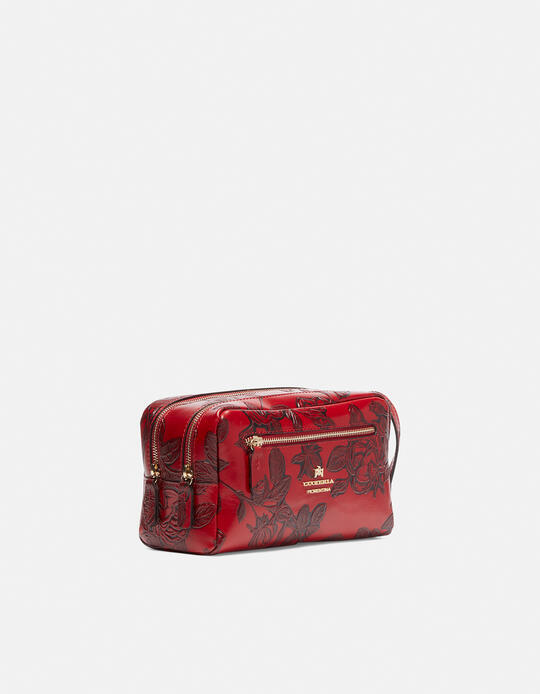 Classic Mimì beauty case with two compartments ROSSO Cuoieria Fiorentina