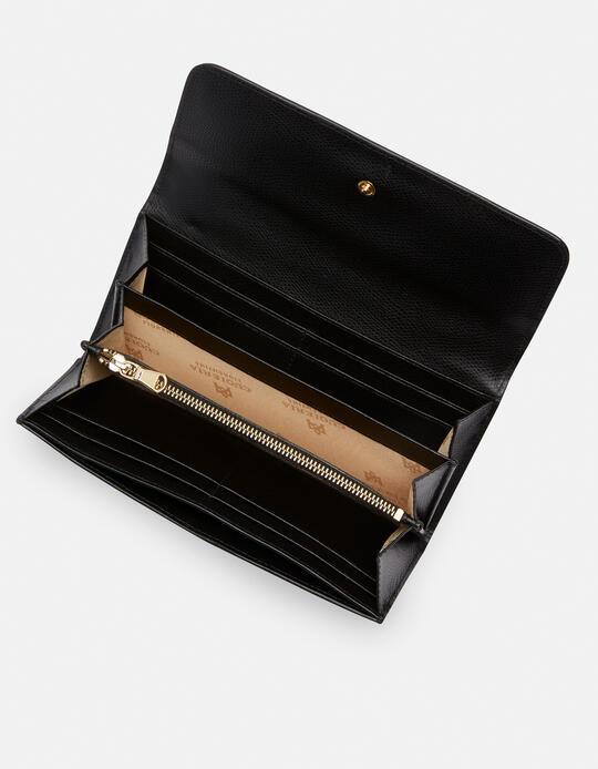 Large bi-fold Bella wallet NERO Cuoieria Fiorentina