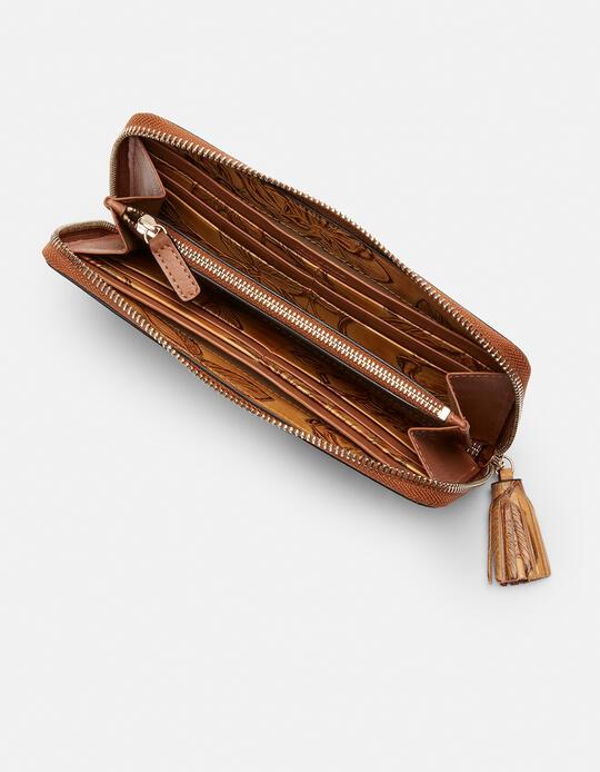 Large zip around Mimì wallet Mimì BEIGE Cuoieria Fiorentina