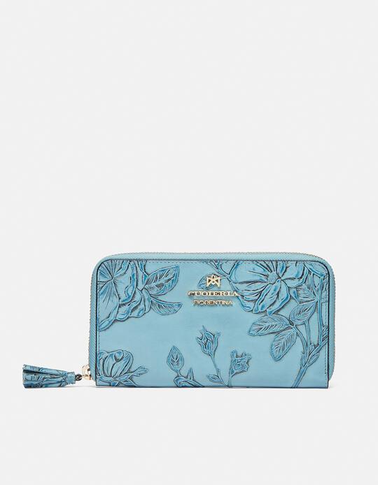 Large zip around Mimì wallet Mimì CELESTE Cuoieria Fiorentina