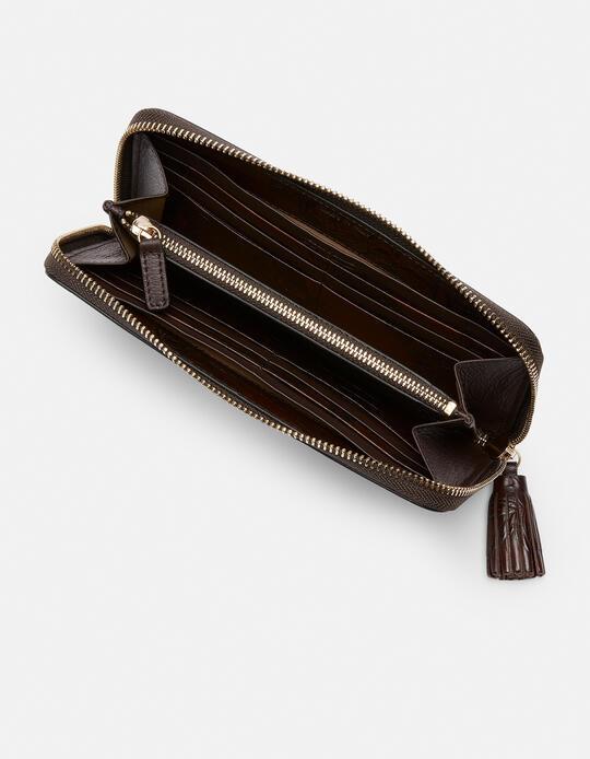 Large zip around Mimì wallet Mimì MOGANO Cuoieria Fiorentina