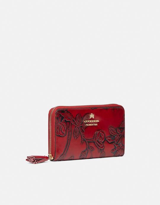 Large zip around Mimì wallet ROSSO Cuoieria Fiorentina