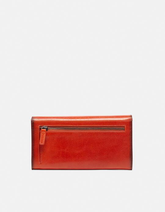 Anti-rfid leather wallet Warm and colour ARANCIO Cuoieria Fiorentina