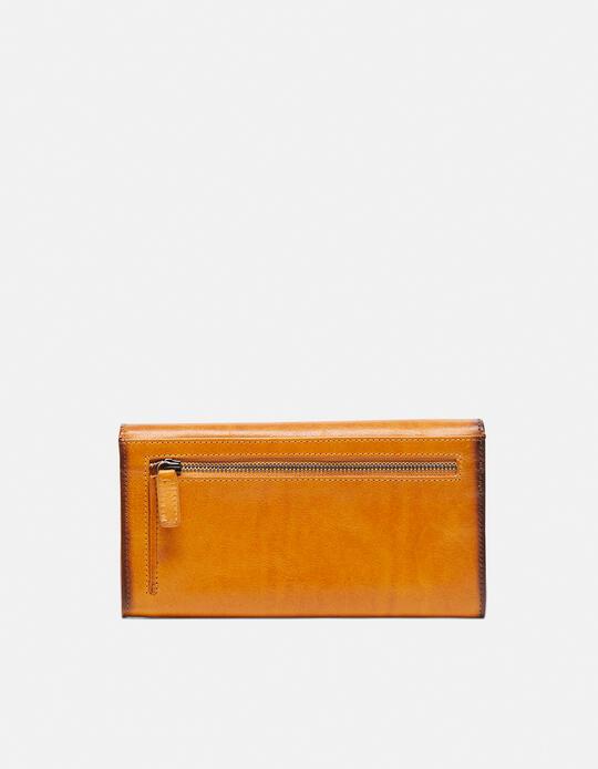 Anti-rfid leather wallet Warm and colour GIALLO Cuoieria Fiorentina