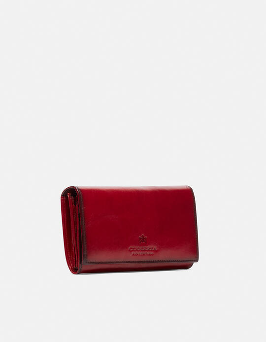Anti-rfid leather wallet Warm and colour ROSSO Cuoieria Fiorentina