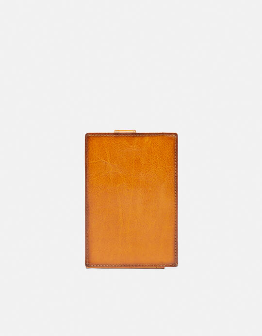 Warm and Color Anti-RFID cardholder GIALLO Cuoieria Fiorentina