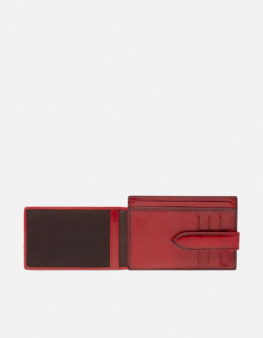 Warm and Color Anti-RFID cardholder ROSSO Cuoieria Fiorentina