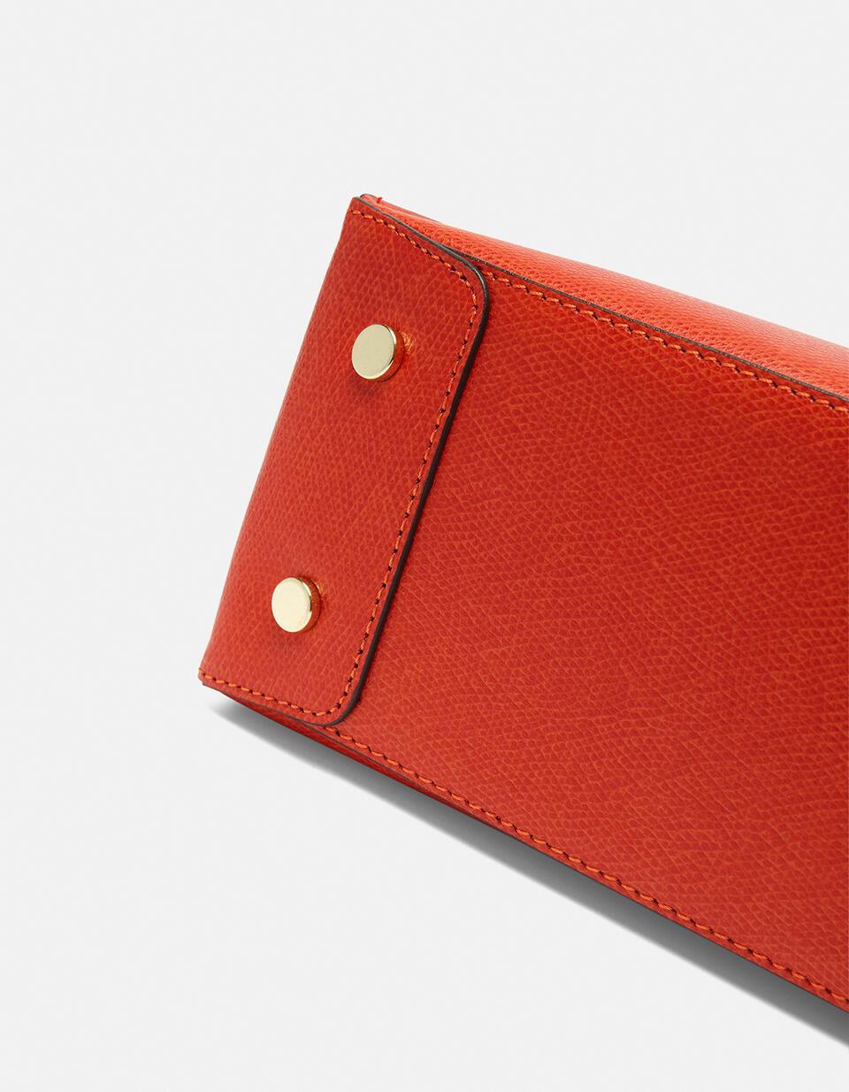 Mini bag in printed calf leather ARANCIO BRUCIATO Cuoieria Fiorentina