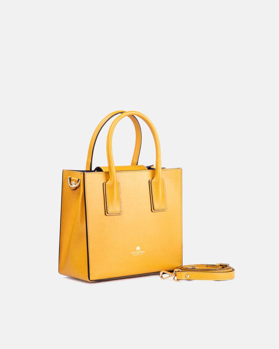 Mini bag in printed calf leather GIALLO Cuoieria Fiorentina