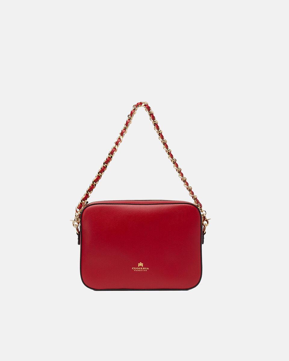 Bella clutch bag con tracolla in pelle e metallo RUBINO Cuoieria Fiorentina