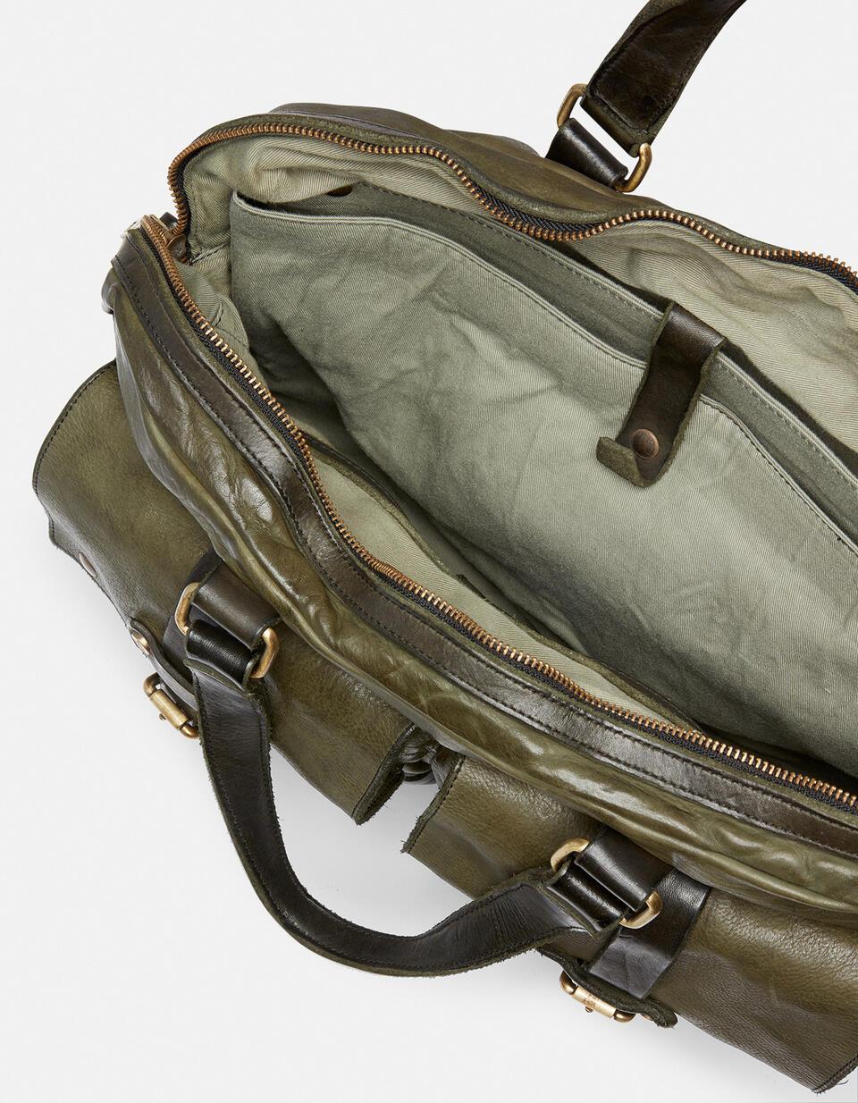 Millennial briefcase in natural leather FORESTA Cuoieria Fiorentina