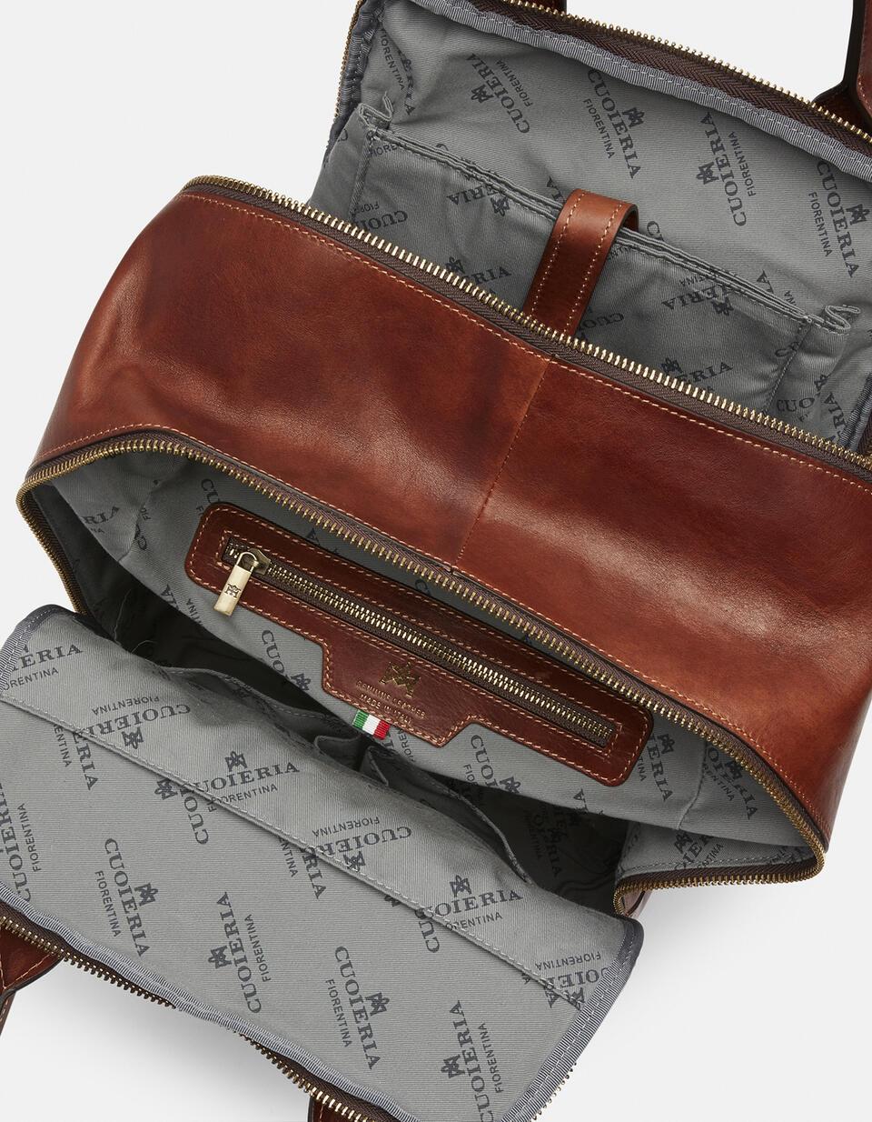 Tokio large backpack in soft leather MARRONE Cuoieria Fiorentina