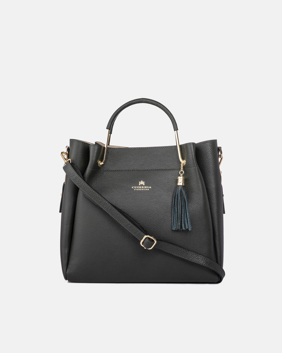 Hand bag in hammered calf leather FORESTA Cuoieria Fiorentina