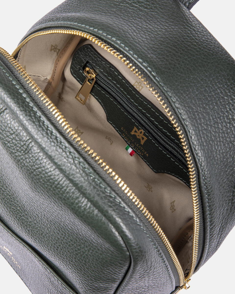 Small backpack in hammered calf leather FORESTA Cuoieria Fiorentina