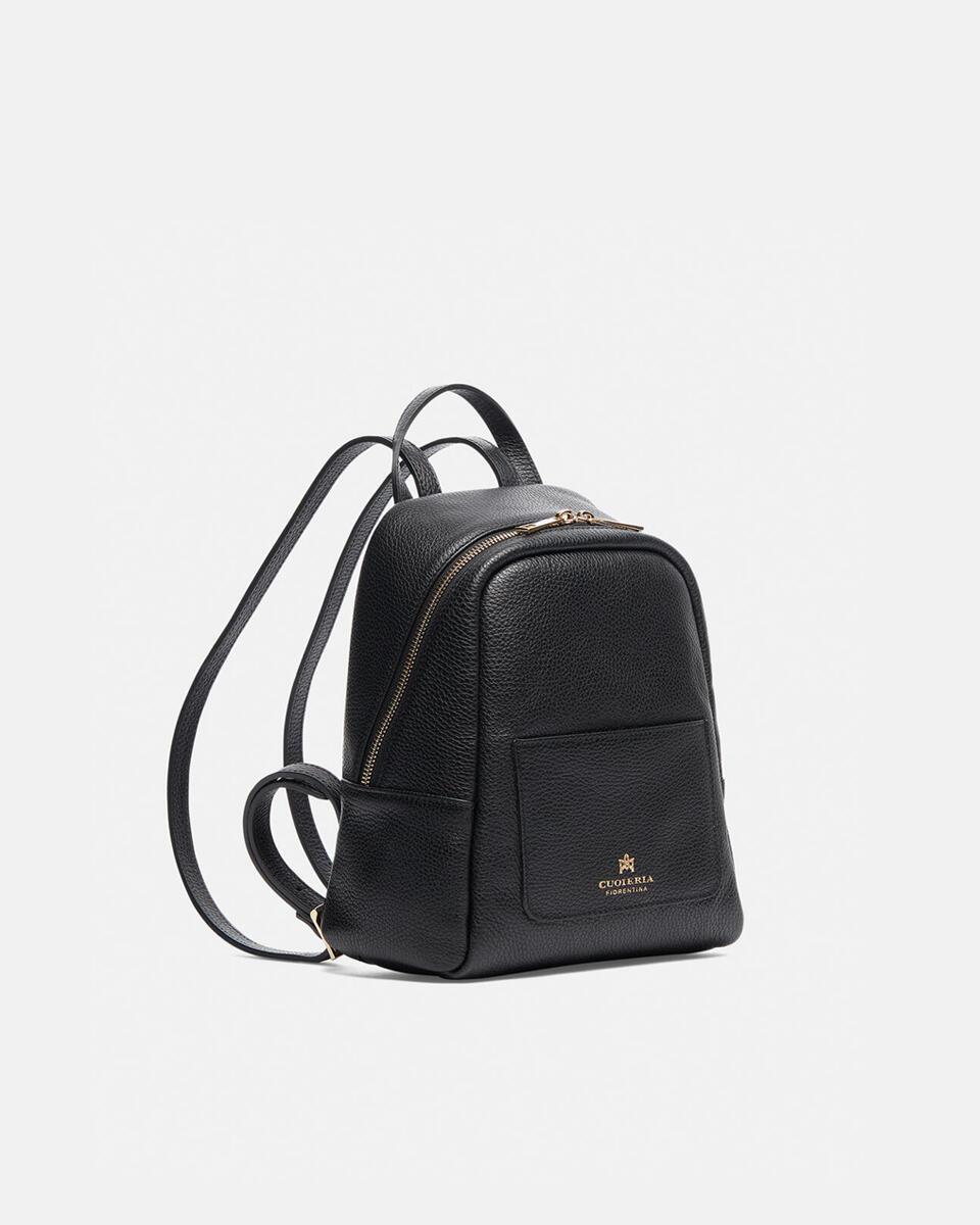 Small backpack in hammered calf leather NERO Cuoieria Fiorentina