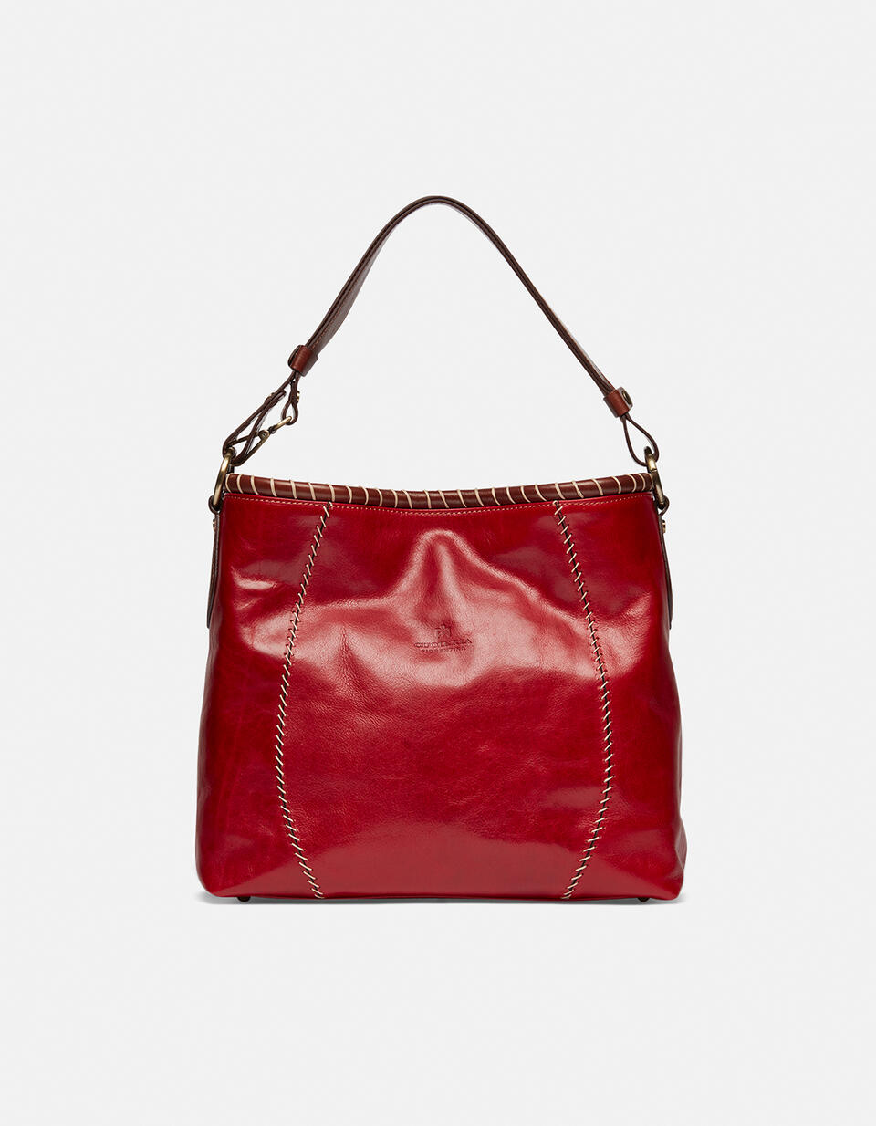 Warm and Colour hand-stitched shoulder bag ROSSOBICOLORE Cuoieria Fiorentina