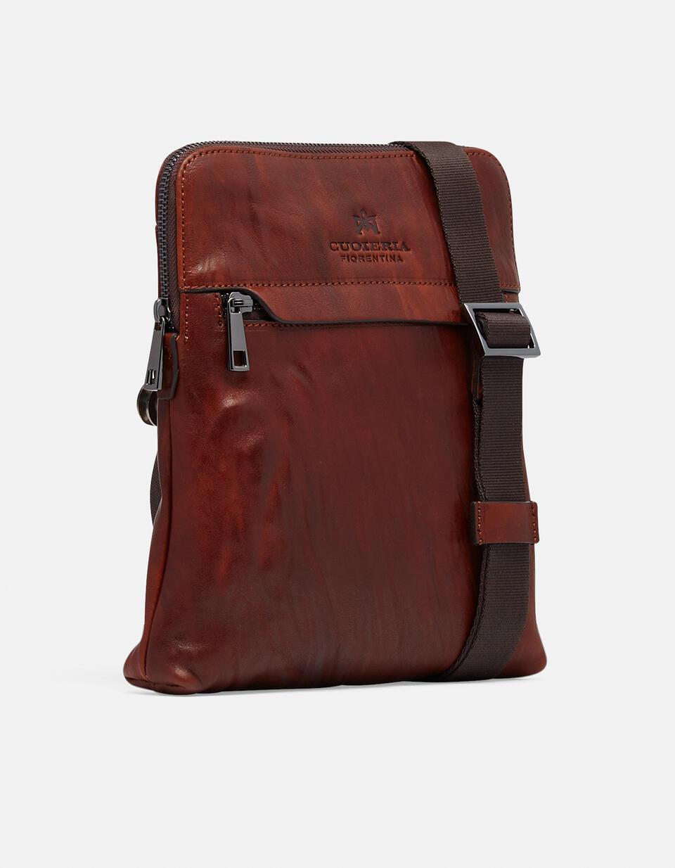 Bourbon iPad bag MARRONE Cuoieria Fiorentina