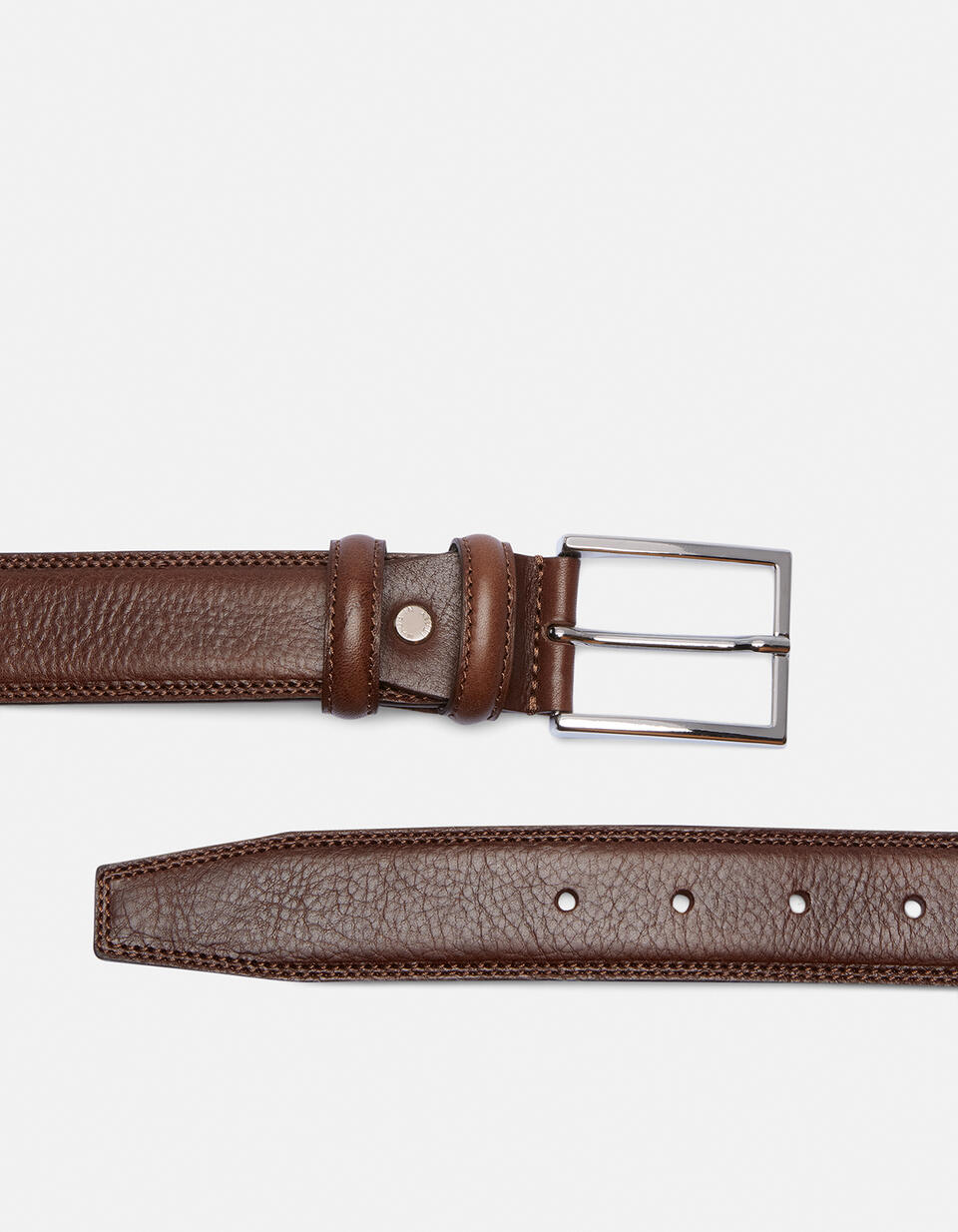 Elegant Leather Belt TESTA DI MORO Cuoieria Fiorentina