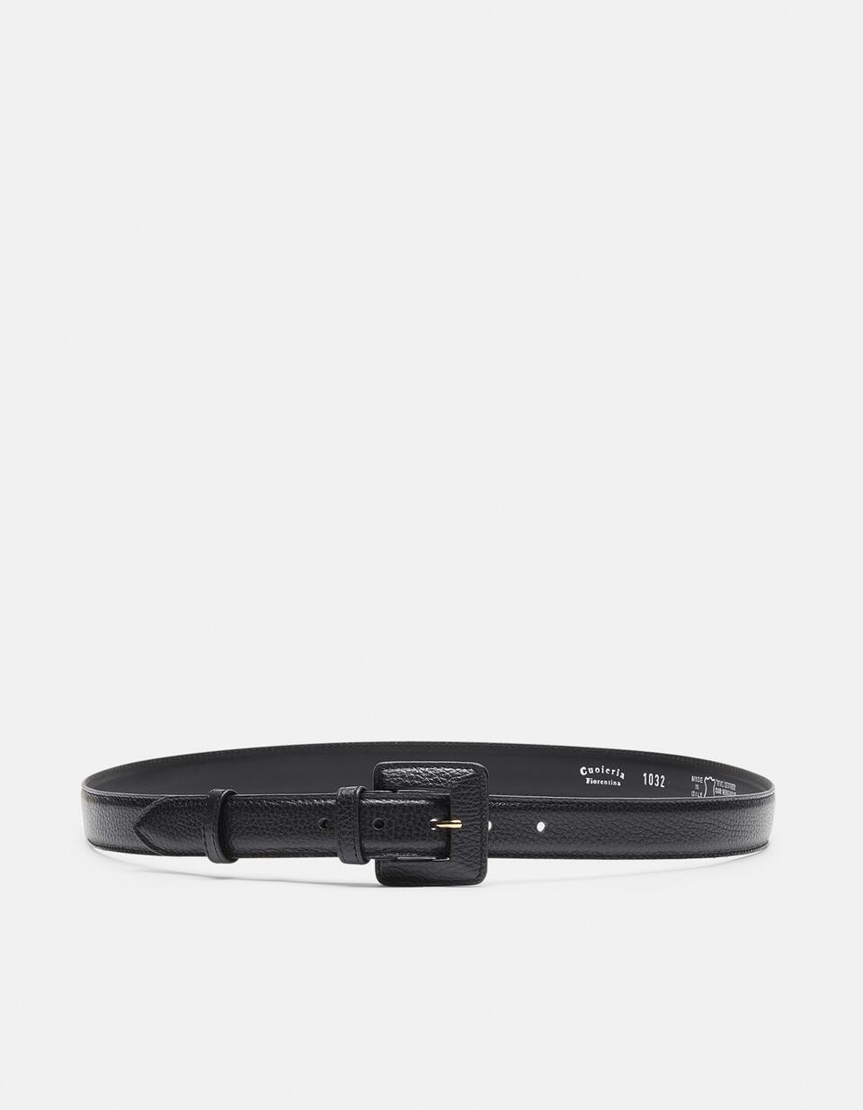 Velvet Cintura con fibbia fasciata NERO Cuoieria Fiorentina