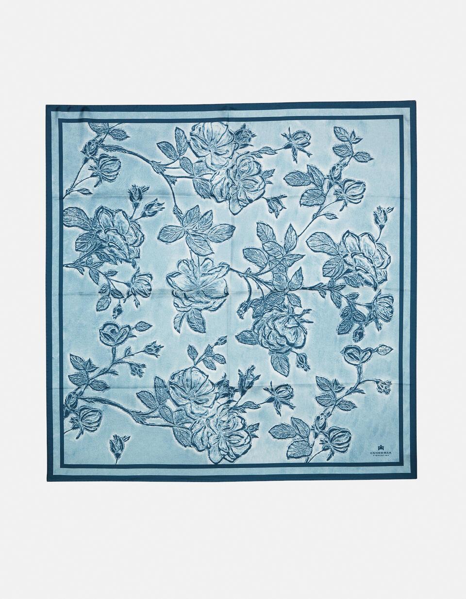 Twill scarf 100% pure silk printed Mimi' 90x90cm CELESTEBIANCO Cuoieria Fiorentina