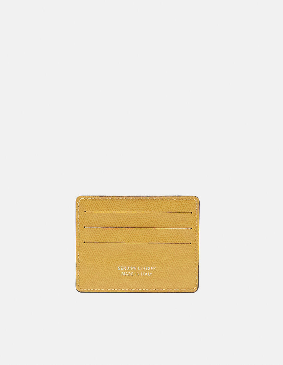 Bella credit car holder with space for banknotes GIALLO Cuoieria Fiorentina