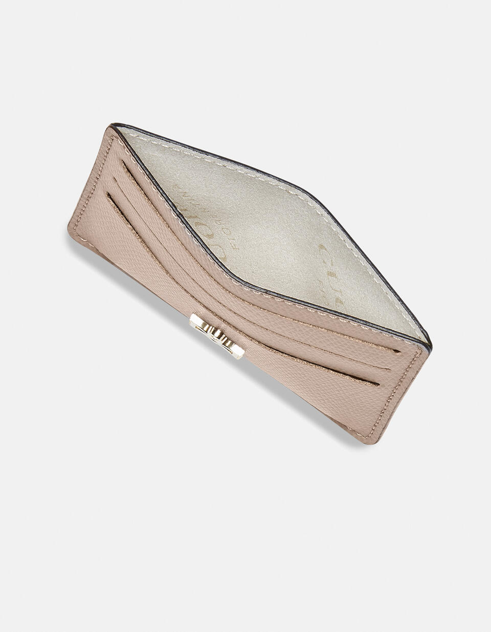 Bella credit car holder with space for banknotes LIGHT PINK Cuoieria Fiorentina