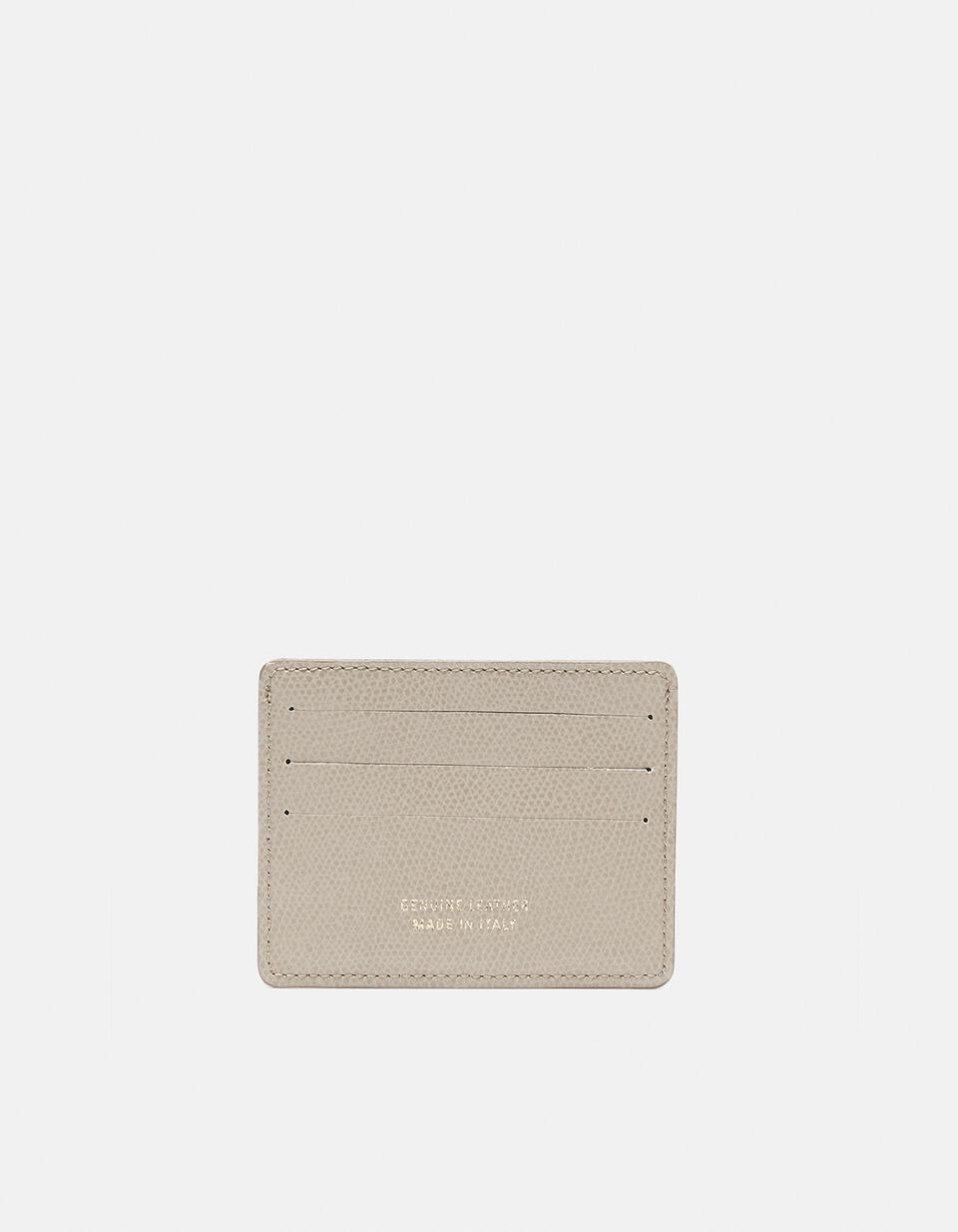 Bella credit car holder with space for banknotes TAUPE CHIARO Cuoieria Fiorentina