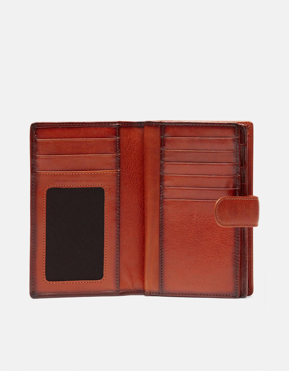 Warm and Color wallet with coin purse ARANCIO Cuoieria Fiorentina