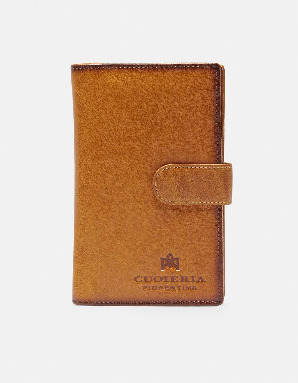 Warm and Color wallet with coin purse GIALLO Cuoieria Fiorentina
