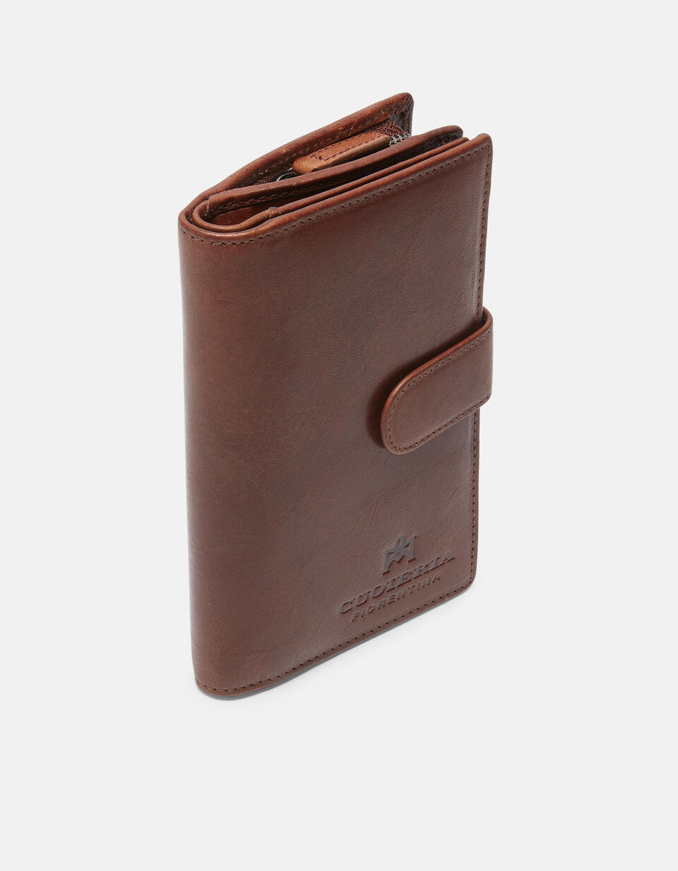 Warm and Color wallet with coin purse MARRONE Cuoieria Fiorentina