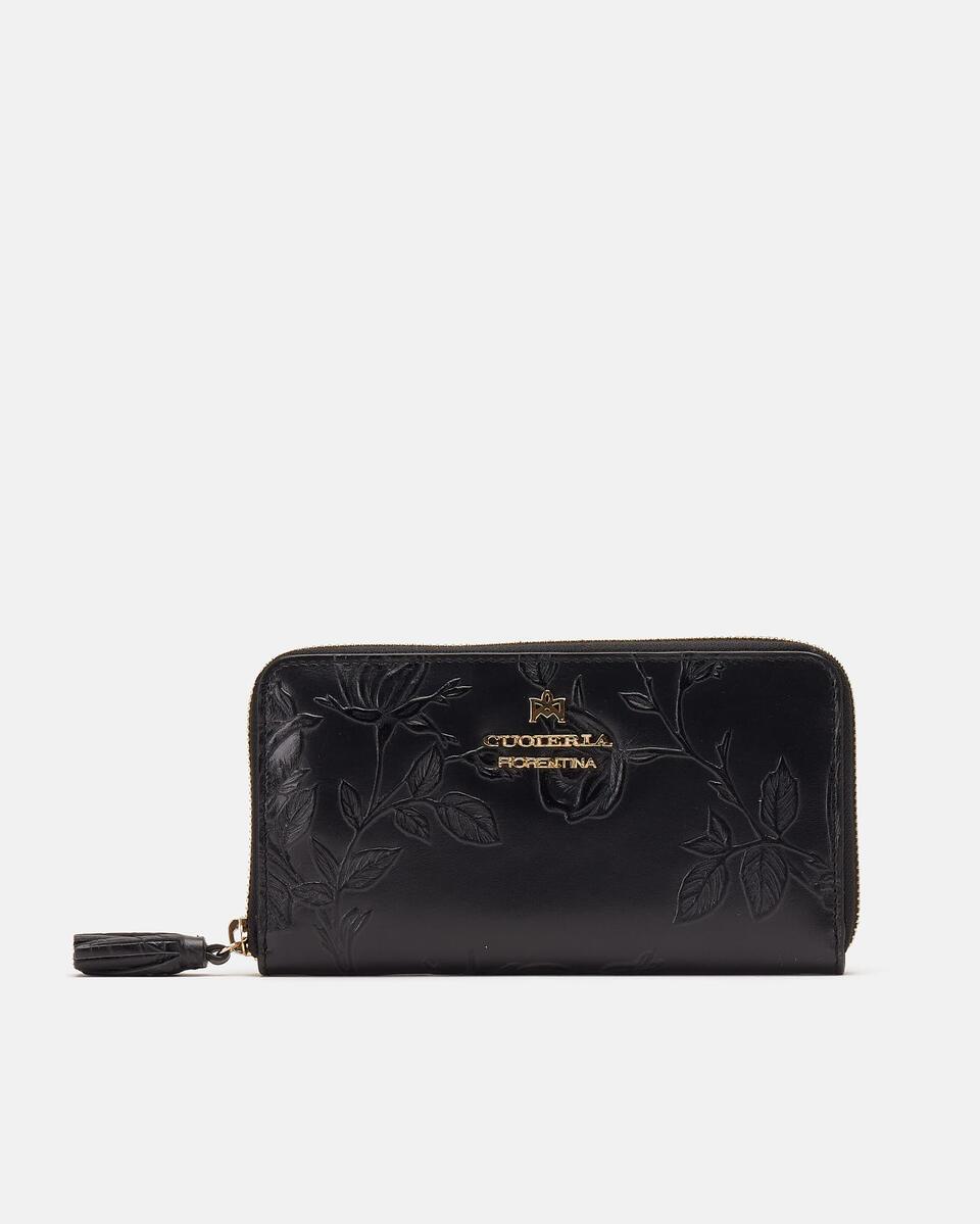 Large zip around Mimì wallet NERO Cuoieria Fiorentina