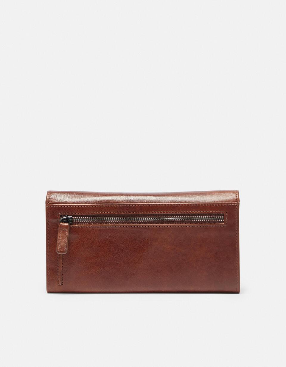 Anti-rfid leather wallet Warm and colour MARRONE Cuoieria Fiorentina