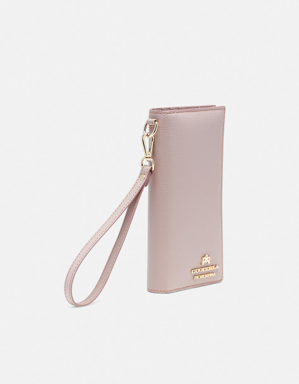 Vertical credit card holder withcoin case and zip Cloud CIPRIA Cuoieria Fiorentina