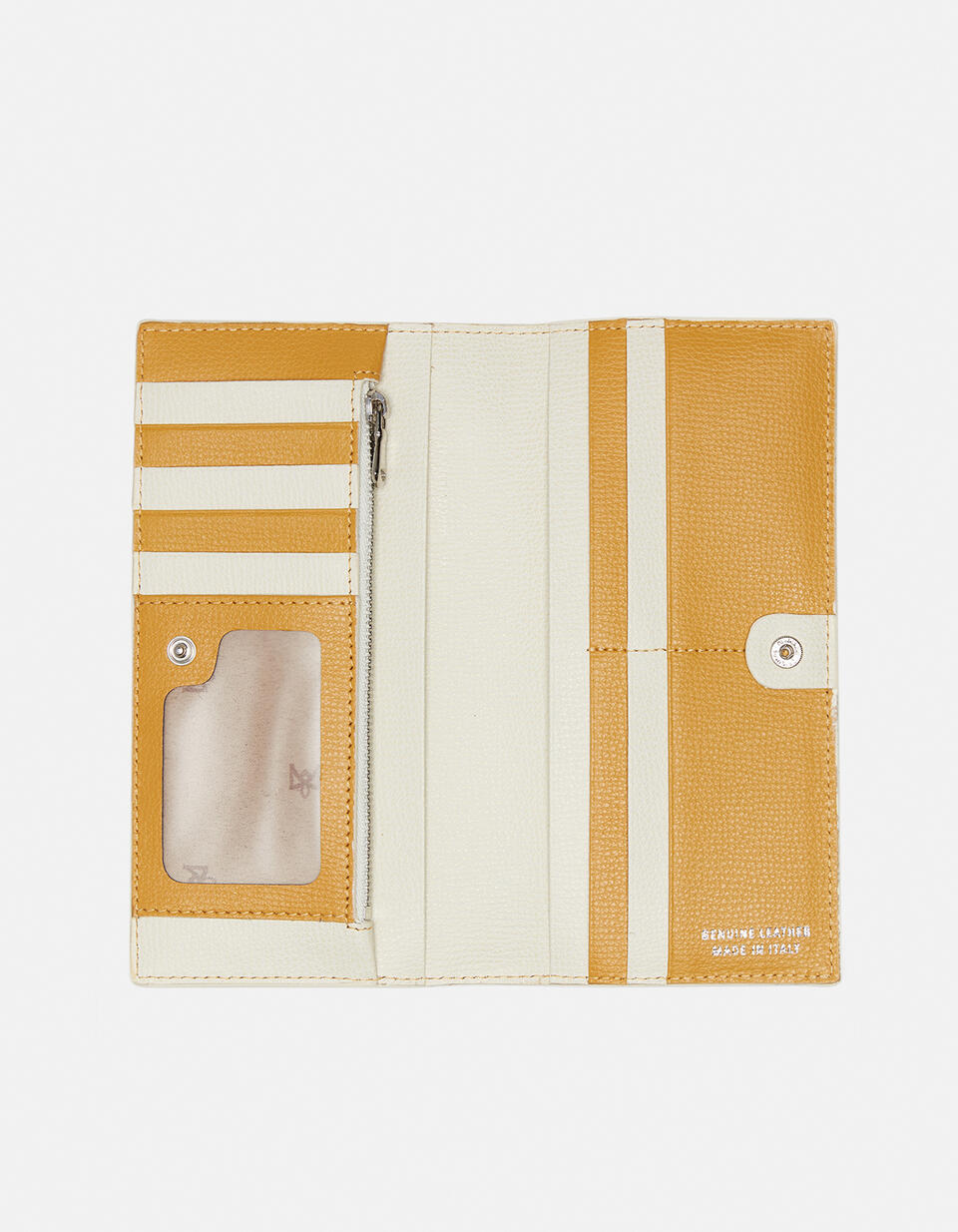 Vertical credit card holder withcoin case and zip Cloud GIALLOAVORIO Cuoieria Fiorentina
