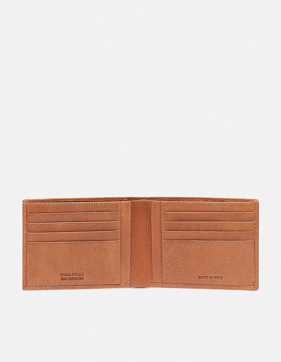 Anti-rfid Calf wallet TAN Cuoieria Fiorentina