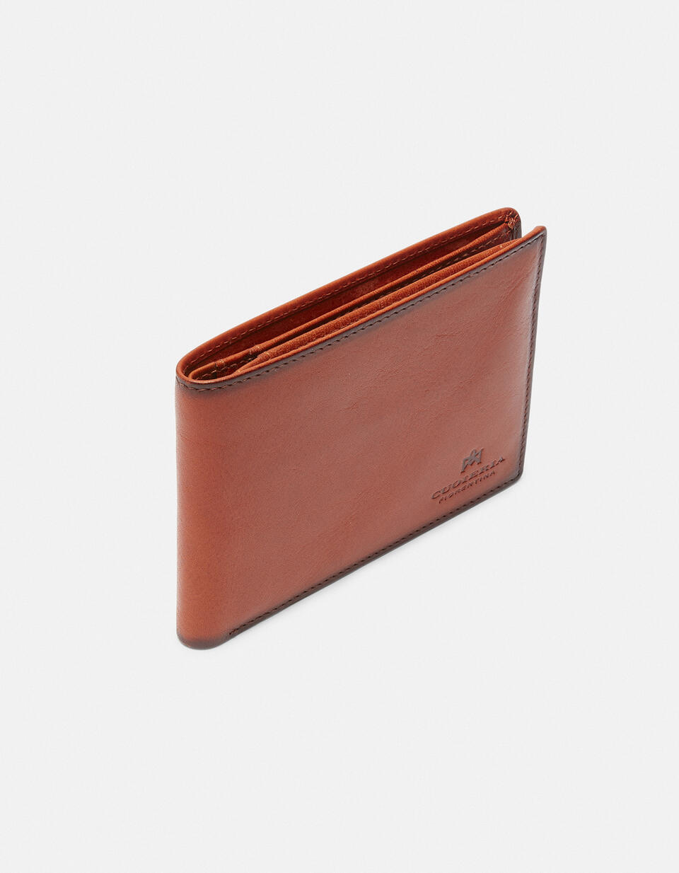 Leather Warm and Color Anti-RFid Wallet ARANCIO Cuoieria Fiorentina