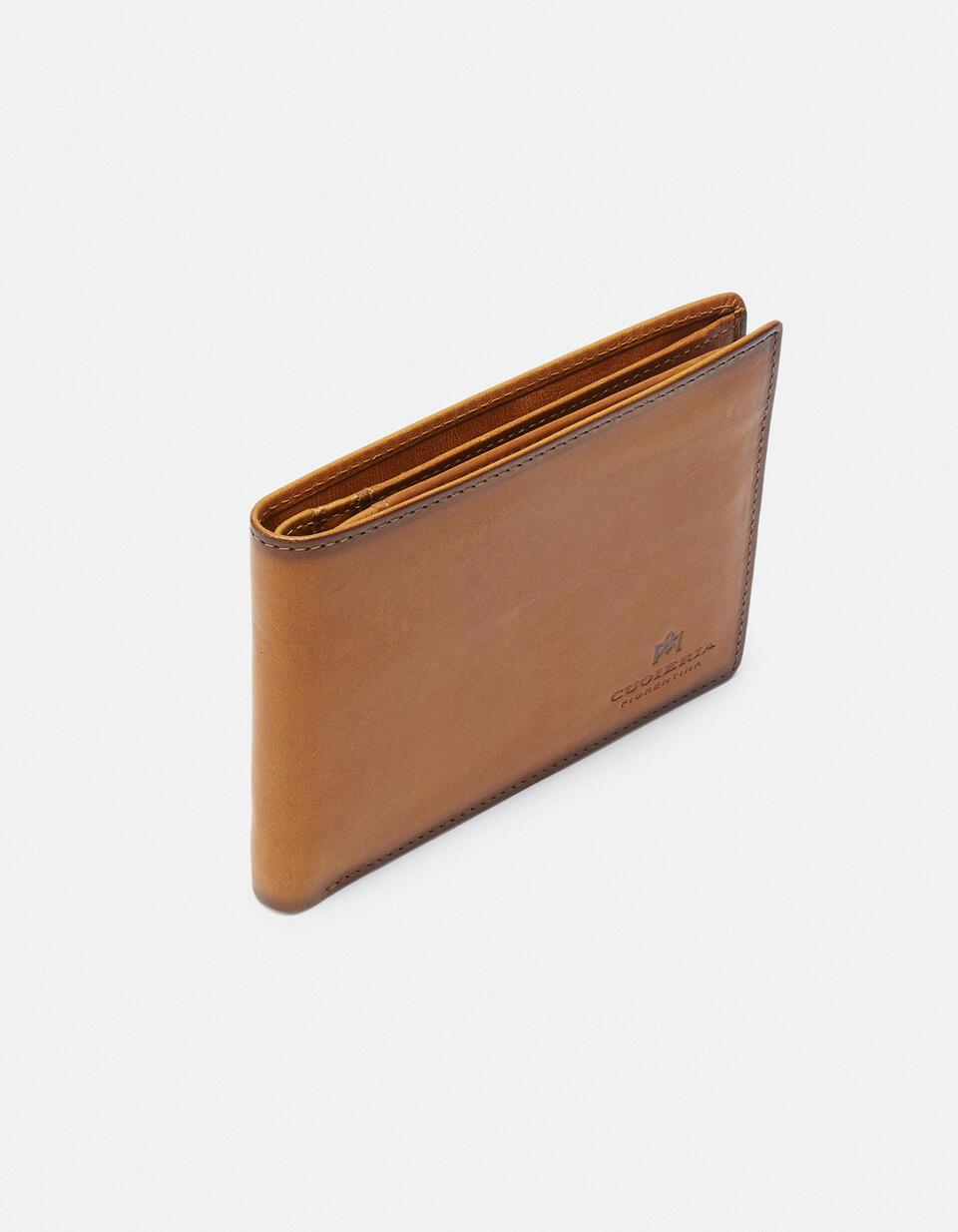 Leather Warm and Color Anti-RFid Wallet GIALLO Cuoieria Fiorentina