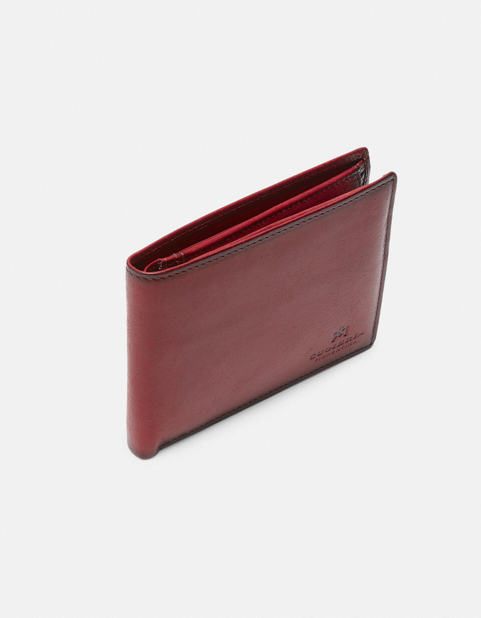 Leather Warm and Color Anti-RFid Wallet ROSSO Cuoieria Fiorentina